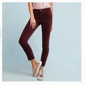 J. CREW High Waist Skinny Maroon Jeans Sz …